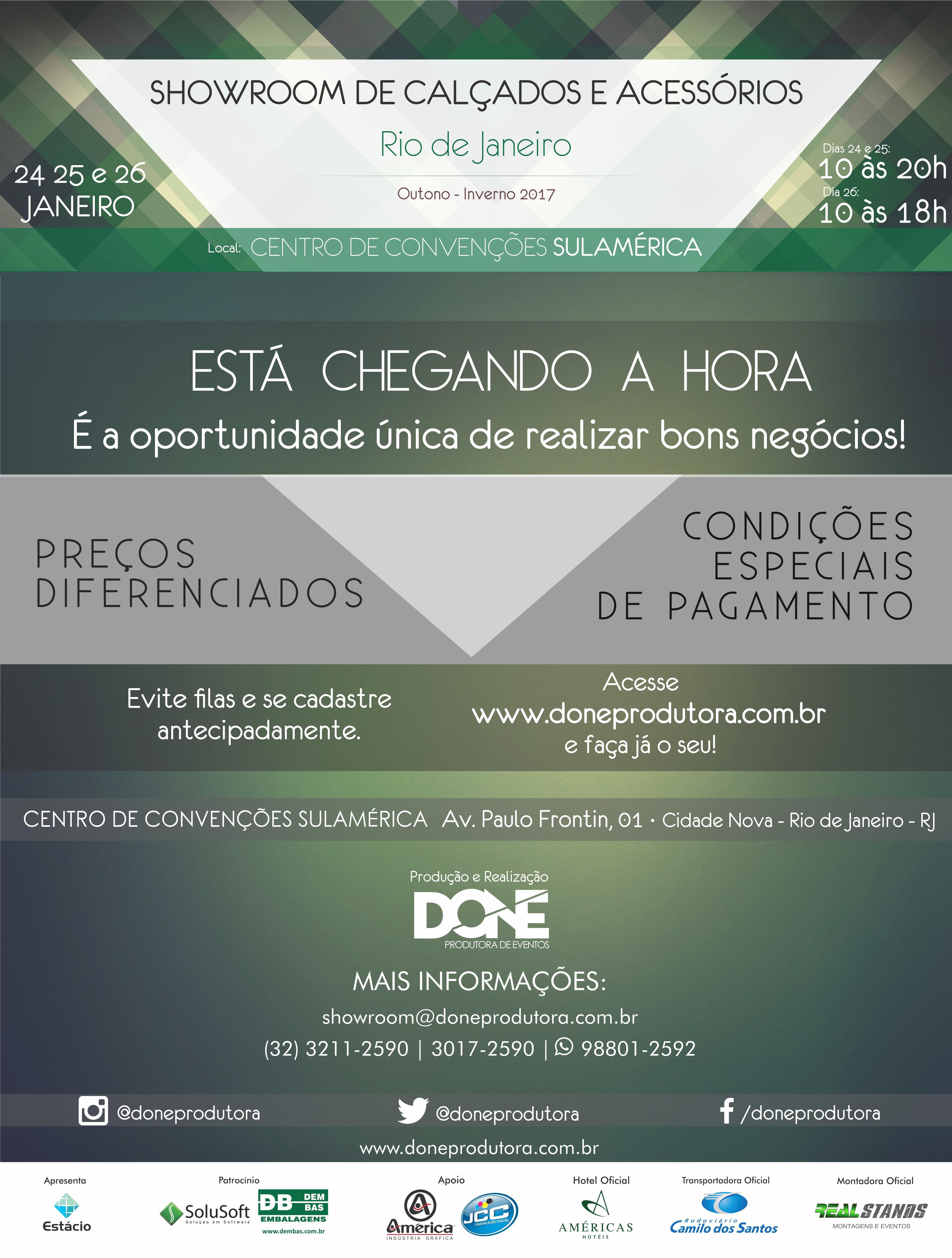 Camilo dos Santos é a transportadora Oficial da 4ª Edição do Showroom de Calçados e Acessórios Rio - 2017